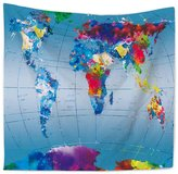 Shine World Map Decor Tapestry Wall Hanging Home Decor each Throw
