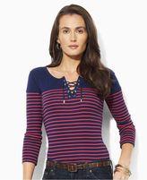 Lauren by Ralph Lauren Lauren Jeans Co. Top, Ford Three Quarter Sleeve Striped Tee