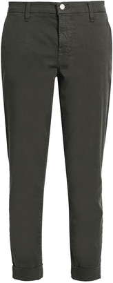 J Brand Josie Cotton-blend Twill Tapered Pants