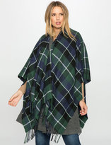 ELOQUII Plus Size Plaid Blanket Poncho