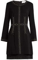 A.L.C. Madison stud-embellished cady dress