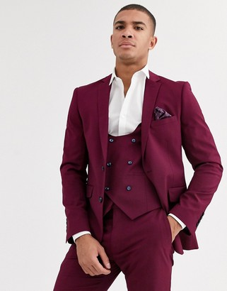 Harry Brown skinny fit stretch plain suit jacket