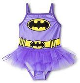 Batman Toddler Girls' 1-Piece Tutu Swimsuit - Purple