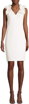 Trina Turk Jazzy At Last Ruffle Shoulder Dress