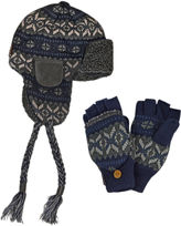 Muk Luks 2-pc. Fair Isle Trapper Hat and Flip Gloves Set