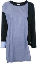 Semi-Couture Semicouture - colour block knit top - women - Cotton - XS