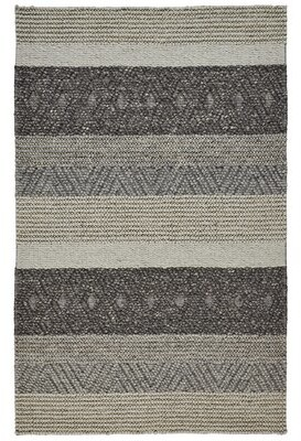 Union Rustic Updike Hand-Knotted Wool/Cotton Beige/Brown Area Rug Union Rustic