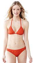 Classic Women's SwimMates Ruffle String Bikini Top-Deep Sea Mini Tossed Floral