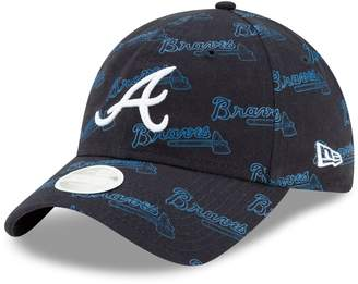 New Era Women's Navy Atlanta Braves Worded 9TWENTY Adjustable Hat