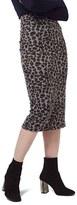 Topshop Women's Leopard Print Tube Skirt