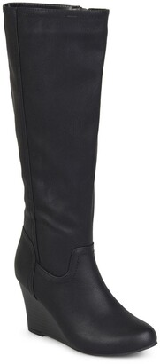 Journee Collection Langly Wedge Heel Tall Boot - Wide Calf