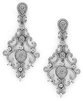 Noir Crystal Drop Earrings
