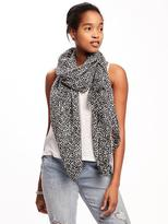 Old Navy Printed Linear Scarf for Women