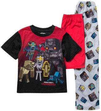 AME Minecraft Top & Bottoms Pajama Set