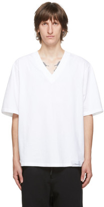 3.1 Phillip Lim White Oversized Optic Boxy V-Neck T-Shirt