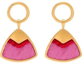 Katerina Makriyianni Silk Triangle Drop Earrings