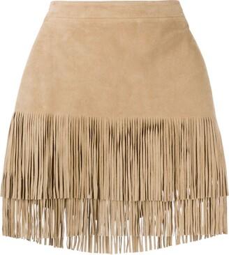 MICHAEL Michael Kors Fringed Mini Skirt