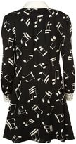 Saint Laurent Music Note Printed Shirt Dress