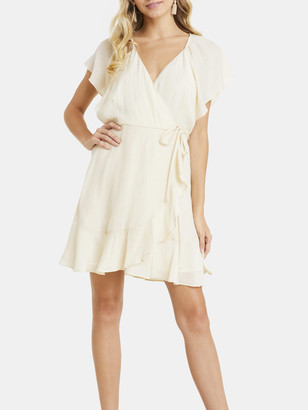 Lush Surplice Wrap Mini Dress