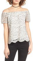 WAYF Women's Lace Off The Shoulder Top