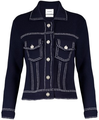 Barrie Cashmere and cotton knit jacket