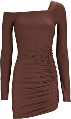 Alix Chambers One-Shoulder Ruched Mini Dress