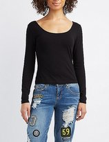 Charlotte Russe Lattice-Back Crop Top