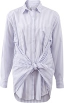 ADAM SELMAN Stripe Bandana Tie Waist Shirt
