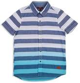 7 For All Mankind Boys' Striped Dip-Dyed Shirt - Big Kid