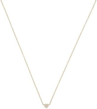 Ef Collection Diamond Mini Heart Necklace