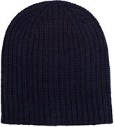 Alex Mill Men's Chunky Rib-Knit Cashmere Beanie-NAVY