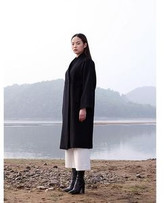 collarless wool coat - ShopStyle