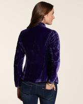 Chico's Embroidered Velvet Jacket