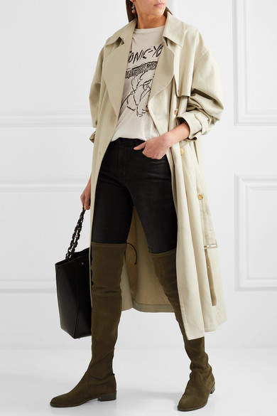 stuart weitzman lowland stretch suede over the knee boots. Black Bedroom Furniture Sets. Home Design Ideas