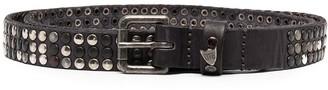 Htc Los Angeles Stud-Embellished Leather Belt