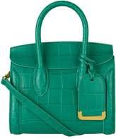 Alexander McQueen Mini Croc Embossed Leather Heroine 21 Bag