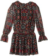 Ella Moss Deb Floral Printed Chiffon Dress with Bell Sleeves Girl's Dress