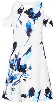 Ralph Lauren Cutout Floral Crepe Dress