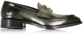 Jil Sander Mirror Black Leather Loafer Shoe