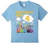Kids Train Birthday Shirt 4 for Boys