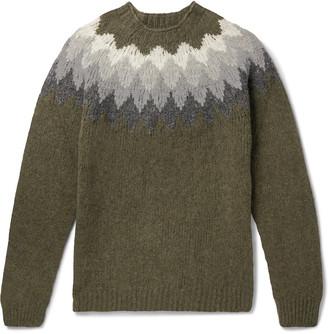 Officine Generale Fair Isle Shetland Wool Sweater