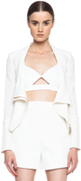 Roland Mouret Mensa Cotton Moto Jacket
