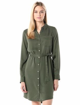 Daily Ritual Amazon Brand Women's Tencel Long-Sleeve Shirt Dress