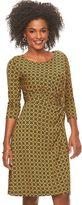 Dana Buchman Women's Printed Knot-Front Dress
