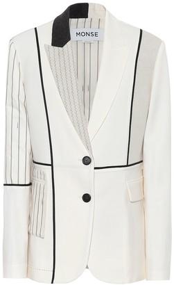 Monse Inside Out Patchwork blazer