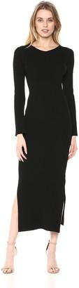 Ali & Jay Women's Long Sleeve Stretch Ribbed Knit Casual Maxi Dress