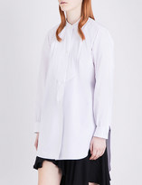 J.W.Anderson Oversized plissé-detail cotton shirt