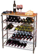 Seville Classics Five-Shelf Wine Rack with Bamboo Top