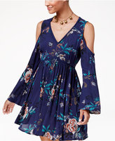 American Rag Juniors' Cold-Shoulder Fit & Flare Dress, Created for Macy's