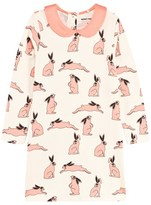 Mini Rodini Pink Rabbit Print Dress